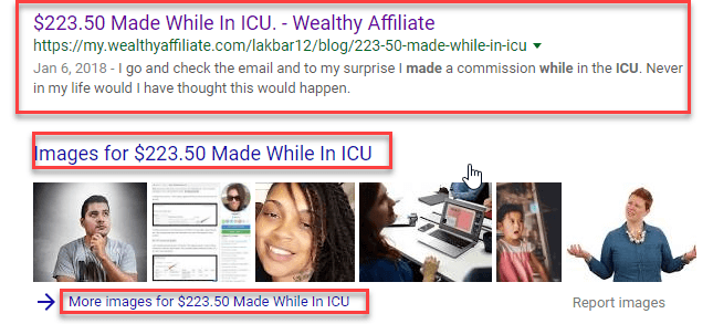 $223.50 Made While In ICU Ranked In Google From Wealthy Affiliate Blog. Learned In The Best Affiliate Marketing Training: #1 Recommendation