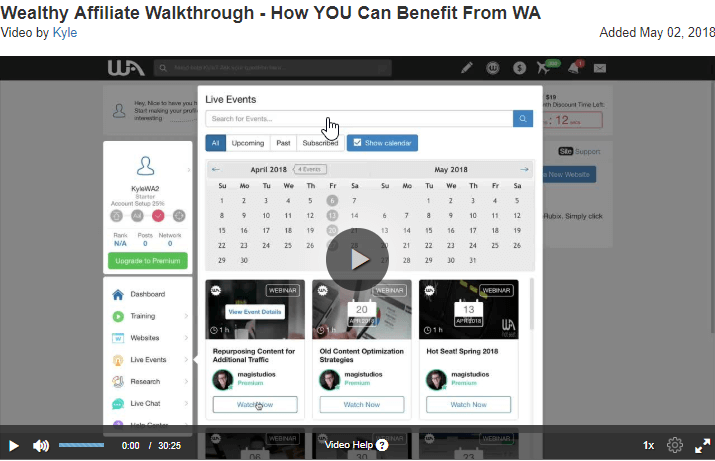 Wealthy Affiliate Walkthrough How You Can Benefit From WA The Best Affiliate Marketing Training: #1 Recommendation