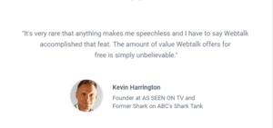 Kevin Harrington (1) What Is Webtalk? Social Media That Pays You