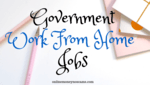 Government Work From Home Jobs