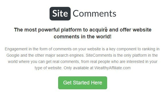 What Is Wealthy Affiliate All About? We Help You Get Site Comments