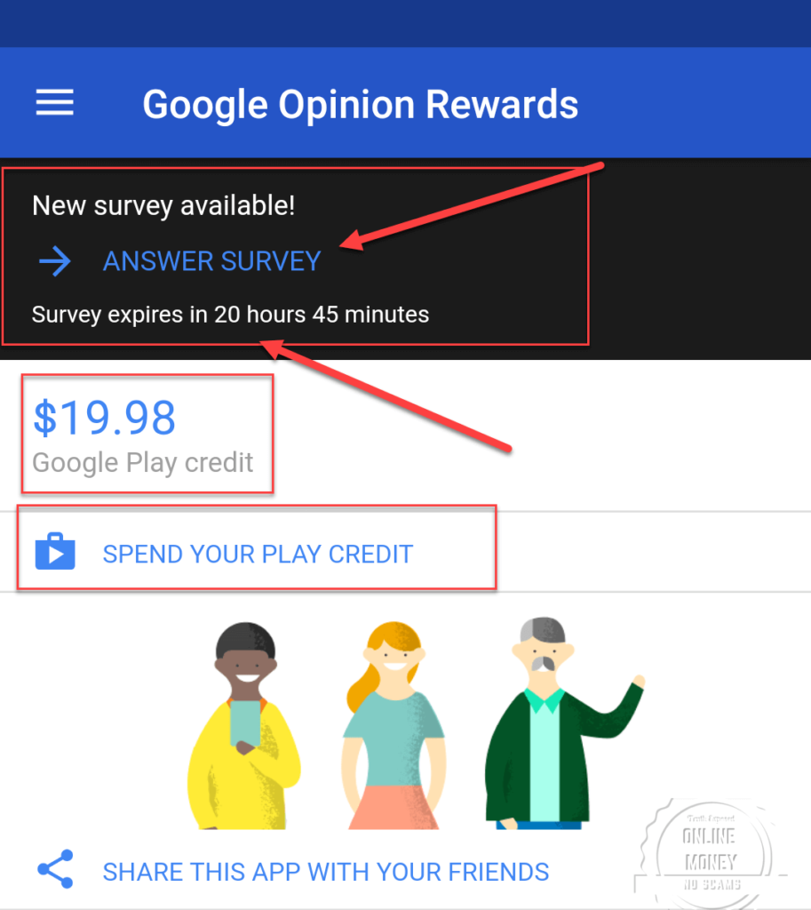 Balance Before, Google Opinion Rewards
