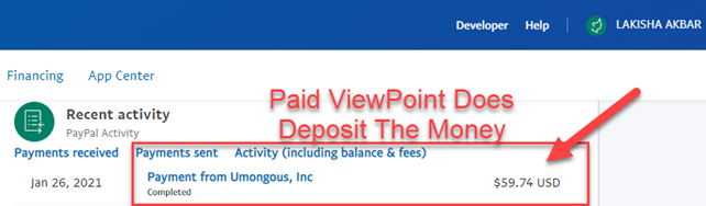 PaidViewPoint Does Deposit The Money