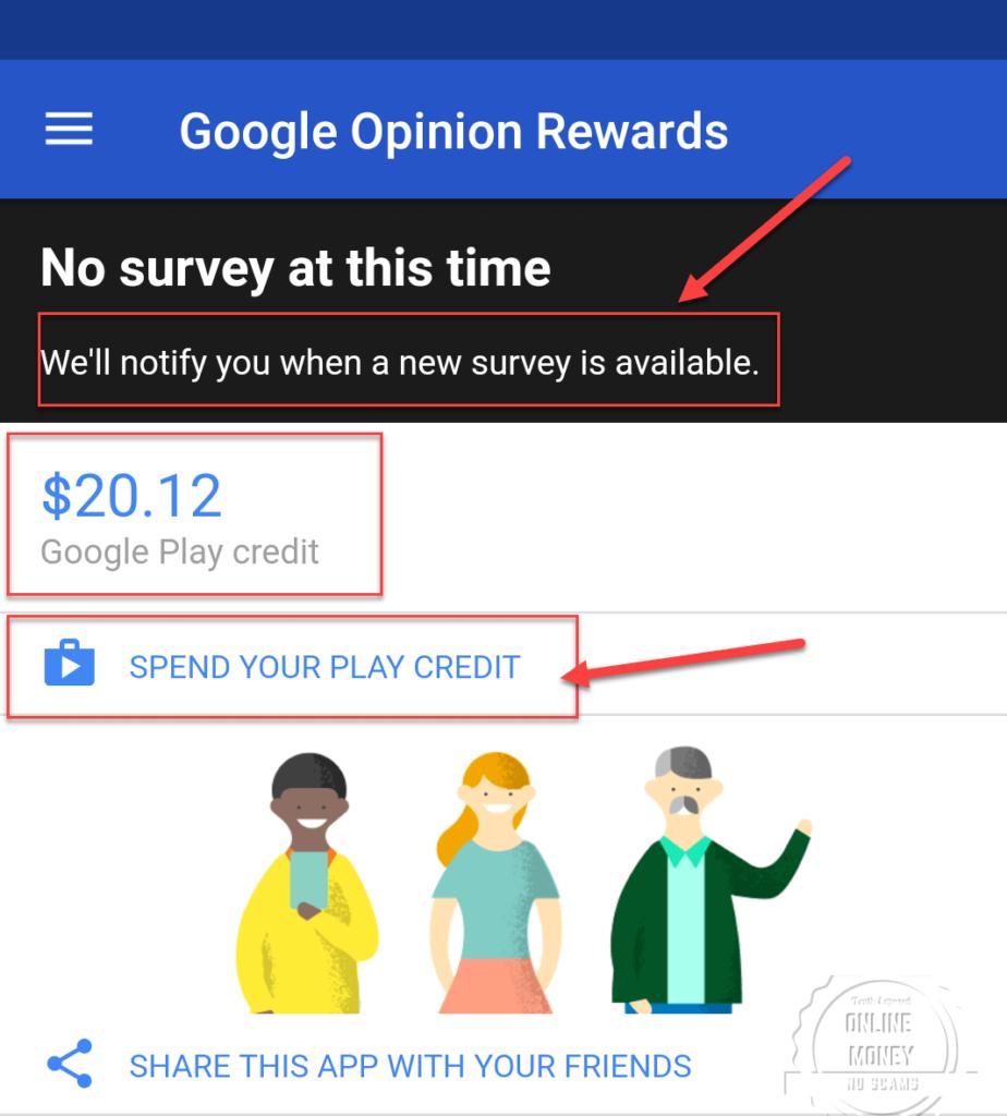 Took A Survey Today, Google Opinion Rewards
