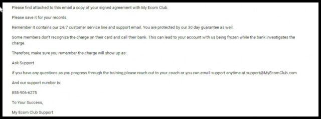 My Ecom Club Review -2