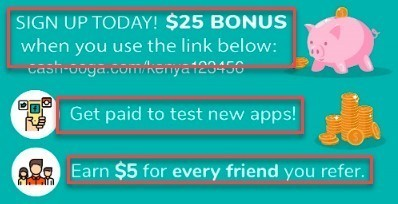 Cashooga Get 25 Sign Bonus