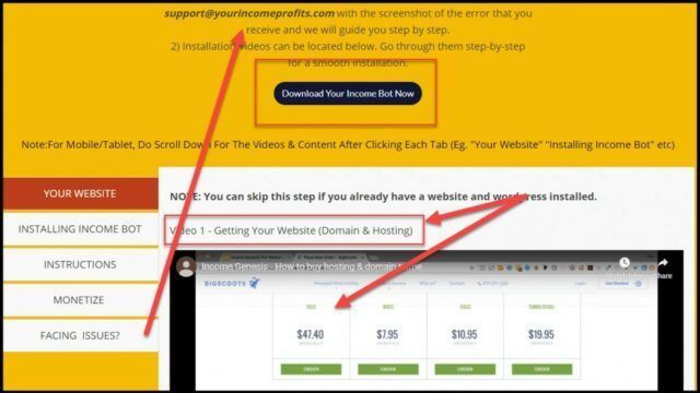 Your Income Profits Hosting And Domains Purchase