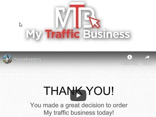 Thank You For The My Traffic Business Purchase It's An E-Book