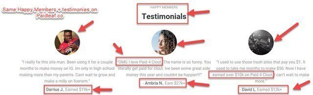 Same Testimonies + Happy Members On Paidleaf.co + Paid 4 Clout