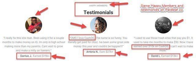 Same Testimonies On CashOG + Paidleaf