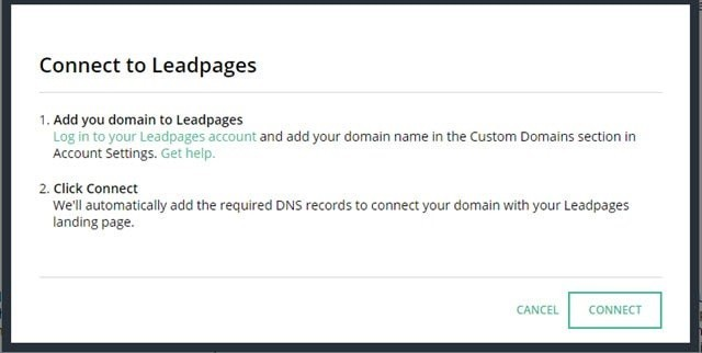 Connect Your Domain With LeadPages