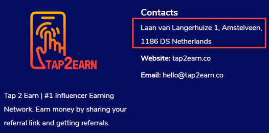 Tap 2 Earn Address