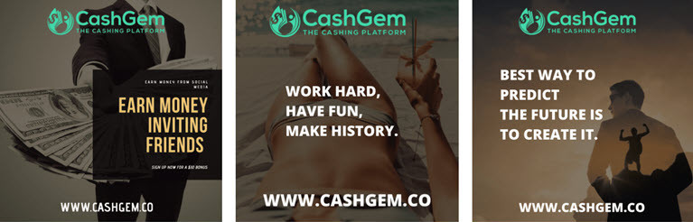 CashGem Promitonal Post